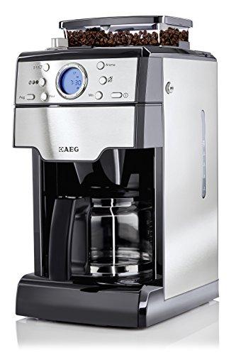 AEG-KAM-300-Kaffeeautomat-Fresh-Aroma-1000-Watt-mit-integriertem-Mahlwerk-9-Individuelle-Mahlgradeinstellungen-edelstahlschwarz-0