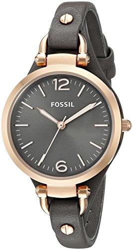 Fossil-Damen-Armbanduhr-XS-Ladies-Dress-Analog-Leder-ES3077-0