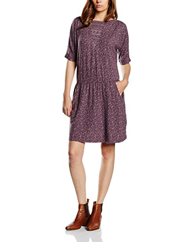 edc-by-ESPRIT-Damen-Kleid-mit-Blumenprint-Midi-0