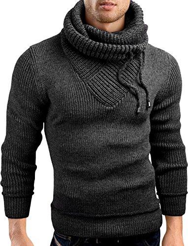 GrinBear-slim-fit-Pullover-Grobstrick-Strickjacke-Herren-GEC555-0