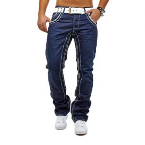 Herren-Jeans-Mafia-ID568-Slim-Fit-Gerades-Bein-0