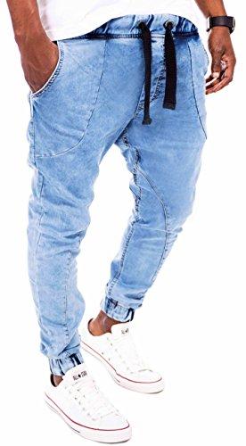 maki herren jogger denim sweathose jeansoptik sweatpants. Black Bedroom Furniture Sets. Home Design Ideas