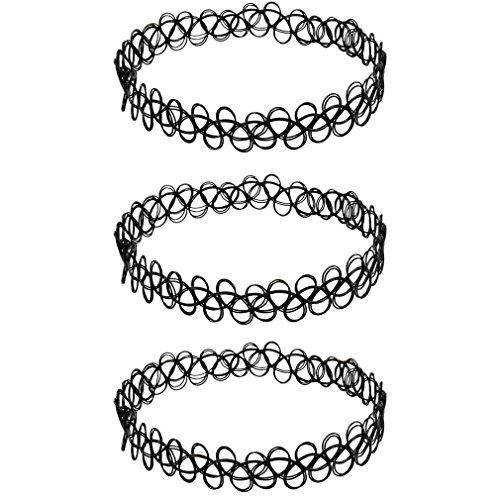 3-x-Henna-Tattoo-Halskette-schwarz-kostenlose-Lieferung-Choker-stretch-Schmuck-Kette-Henna-Vintage-Kette-0