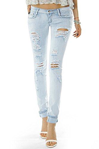 478178794d1e bestyledberlin Damen Jeans Hose Hüftjeans Skinny Röhrenjeans ...
