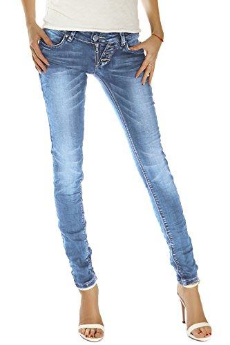 3aa4dea8f8ef bestyledberlin Damen Jeans, Slim Fit Hüftjeans, Stretchige Denim ...