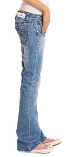 d1a7935aa43b bestyledberlin Damen Jeanshosen, Hüftige Regular Fit Jeans, Basic ...