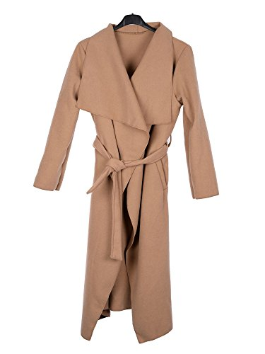 on sale e9fd1 eb383 Kendindza Damen Mantel Trenchcoat mit Gürtel OneSize Lang und Kurz