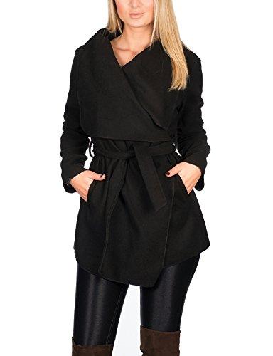 on sale c863e f855f Kendindza Damen Mantel Trenchcoat mit Gürtel OneSize Lang und Kurz