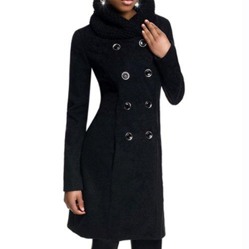 209fac2a81a1 Laeticia Dreams Damen Winter Mantel Jacket Stehkragen XS S M L XL ...