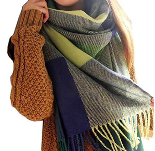 Minetom-Damen-Herbst-Winter-Maedchen-Mode-Bunte-Schals-Wolle-Spinning-Quaste-Schal-Langer-Schal-Wraps-Grosse-Schal-0
