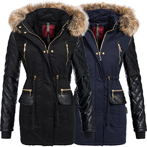 winterjacke wintermantel winterparka f r damen modell sara von navahoo eleganter stepp. Black Bedroom Furniture Sets. Home Design Ideas