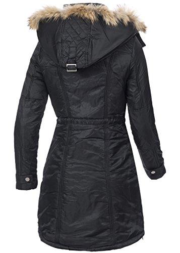 In Vogue Damen Wintermantel Iv090 Warmer Mantel Mit Teddyfutter
